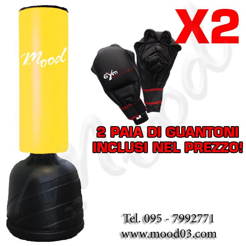 SACCO FITBOXE ALTEZZA REGOLABILE MAX 175cm BASE ANTISCIVOLO Cappuccio 75x30cm + 2 PAIA DI GUANTONI [RICHIEDI SCONTO]